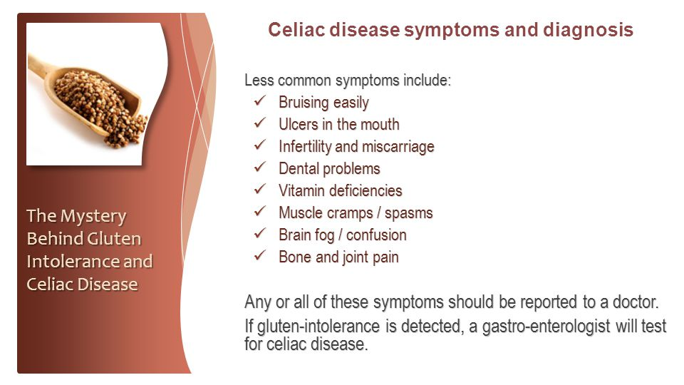 Celiac disease symptoms and diagnosis