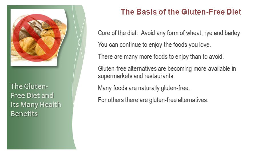 The Basis of the Gluten-Free Diet