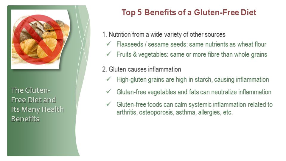 Top 5 Benefits of a Gluten-Free Diet