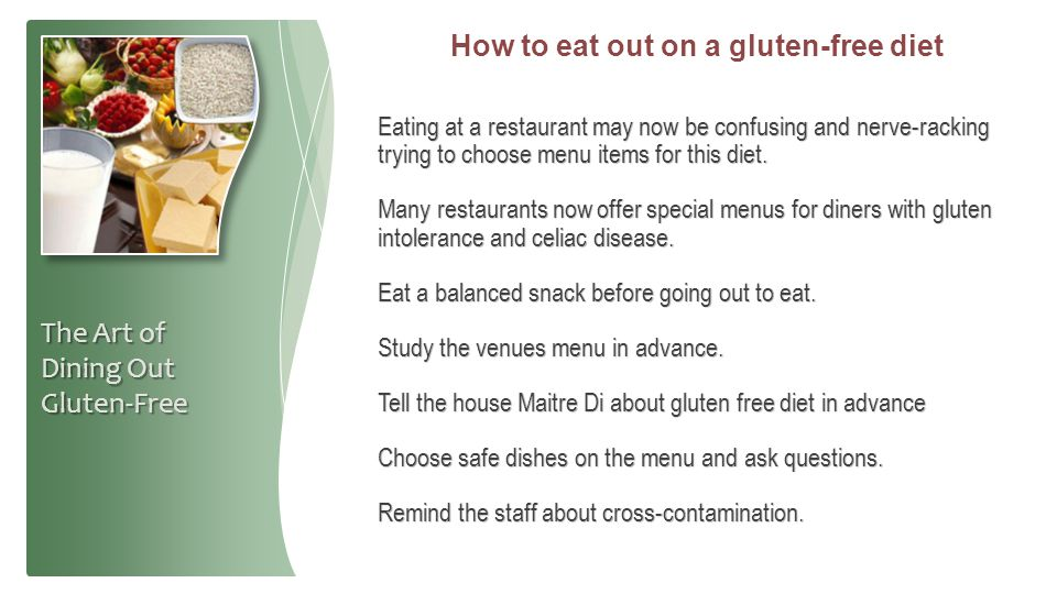 How to eat out on a gluten-free diet