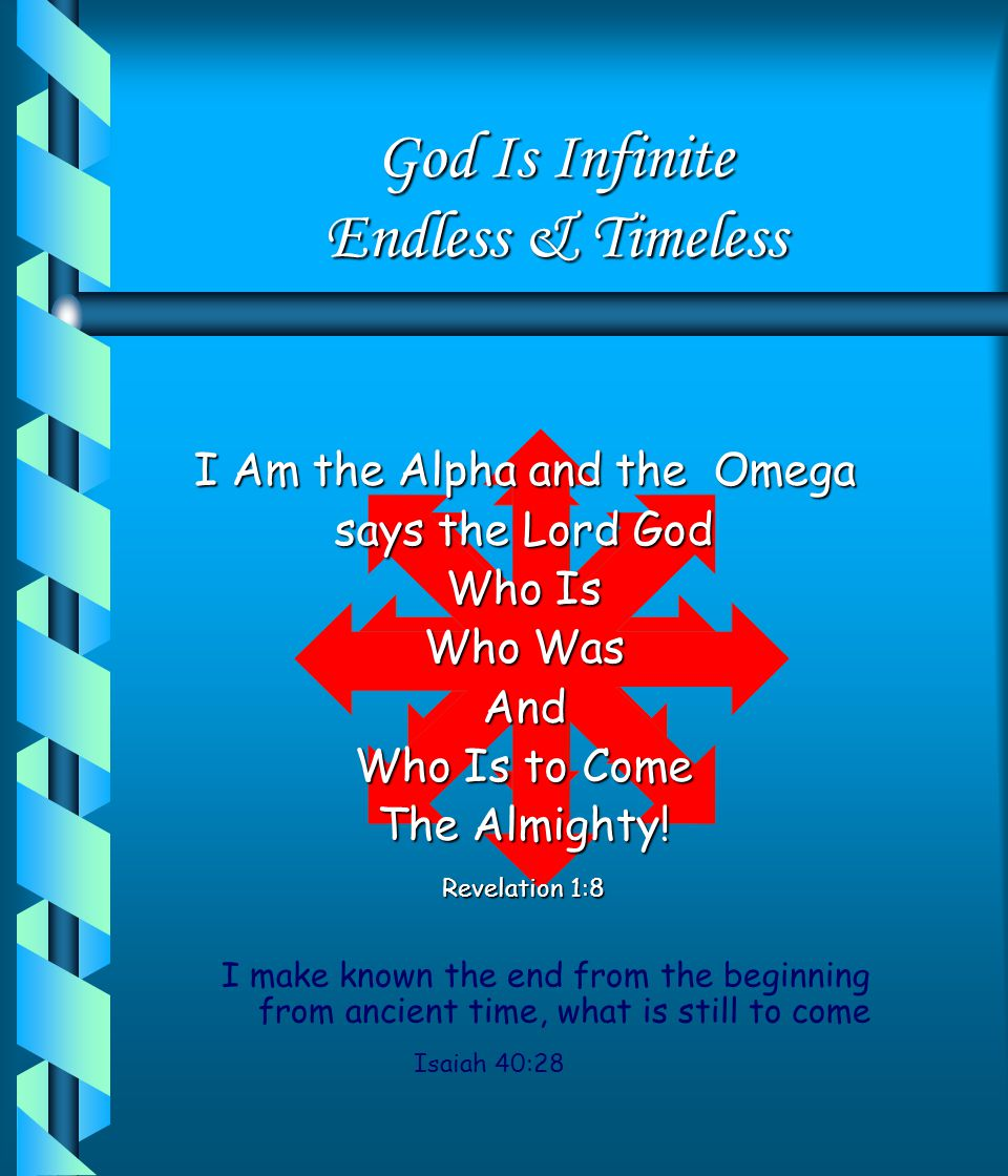 God Is Infinite Endless & Timeless