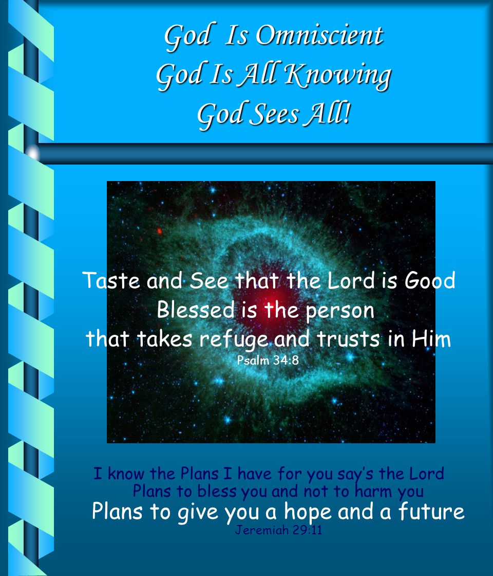 God Is Omniscient God Is All Knowing God Sees All!