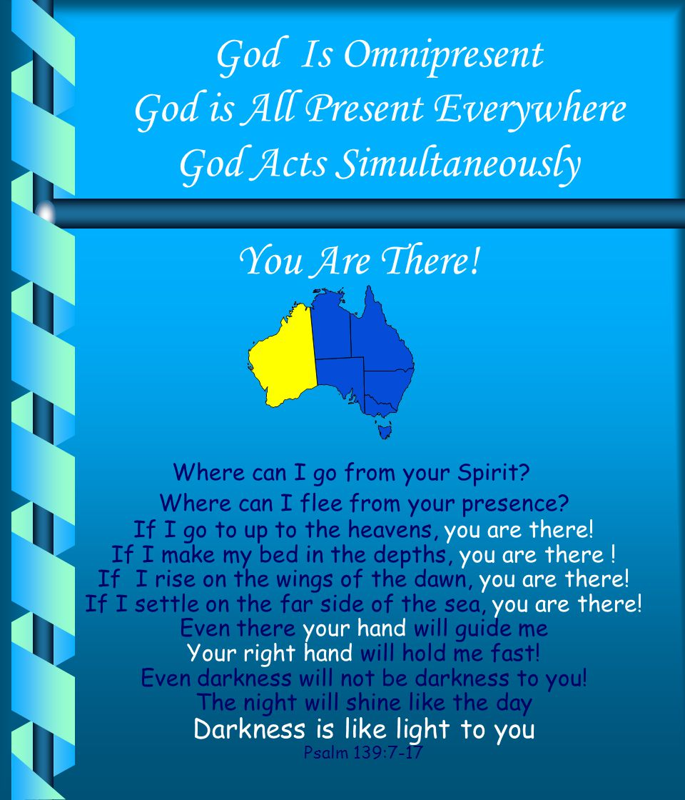 God Is Omnipresent God is All Present Everywhere God Acts Simultaneously