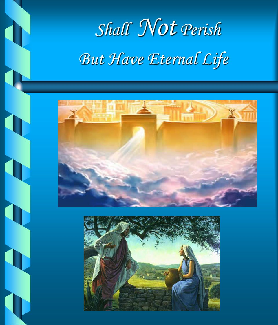 Shall Not Perish But Have Eternal Life