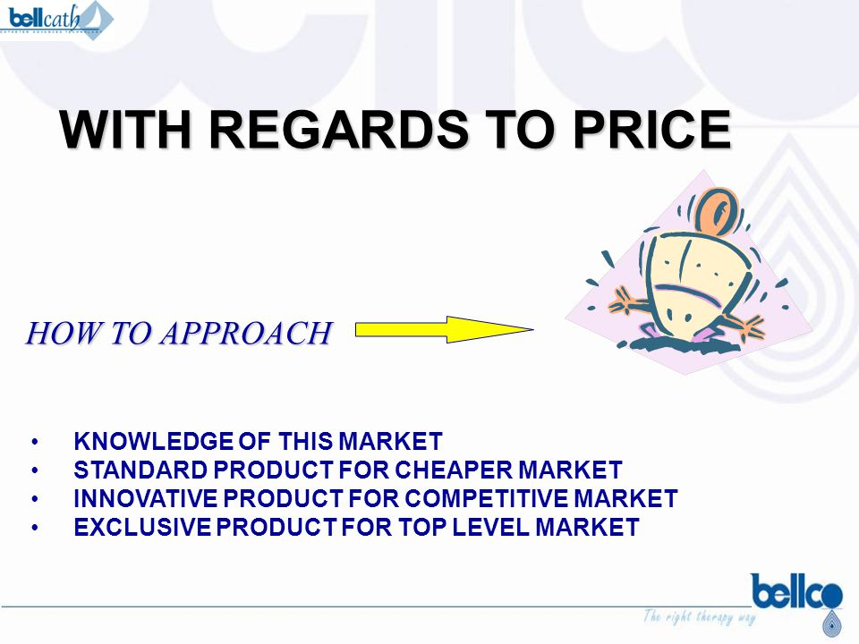 WITH REGARDS TO PRICE HOW TO APPROACH KNOWLEDGE OF THIS MARKET