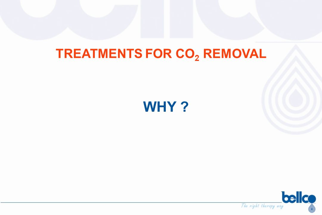 TREATMENTS FOR CO2 REMOVAL