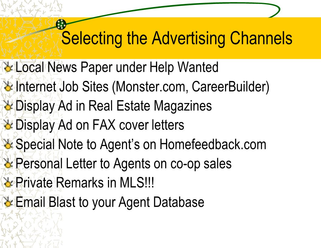Selecting the Advertising Channels