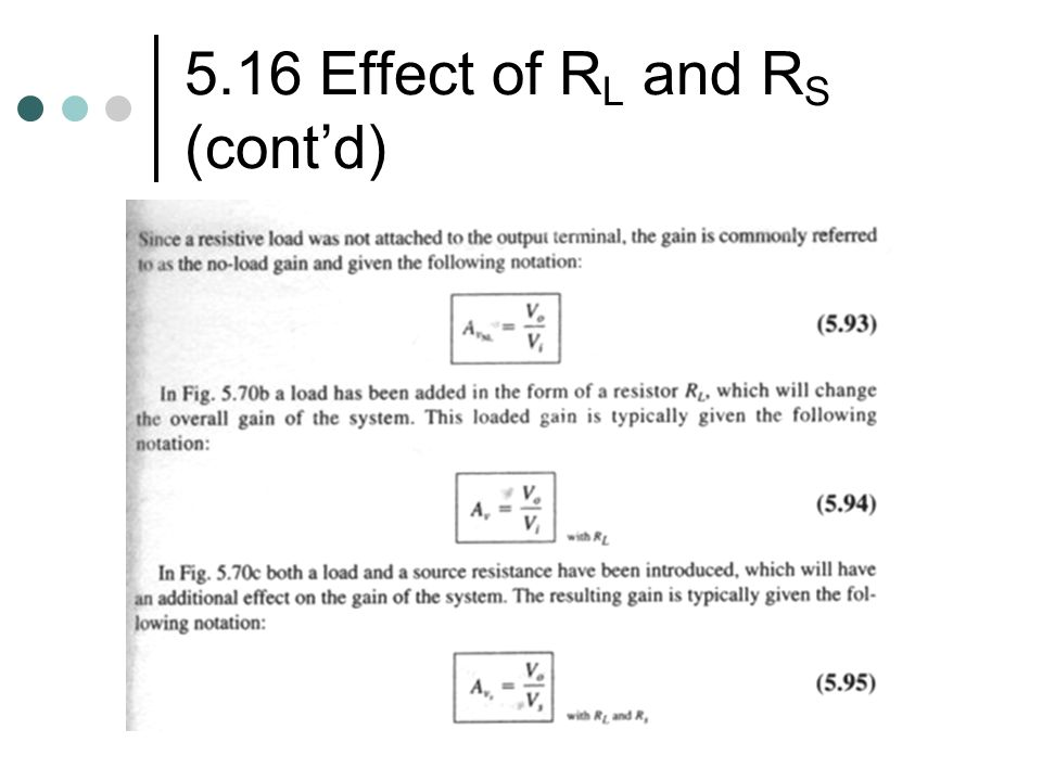 5.16 Effect of RL and RS (cont'd)
