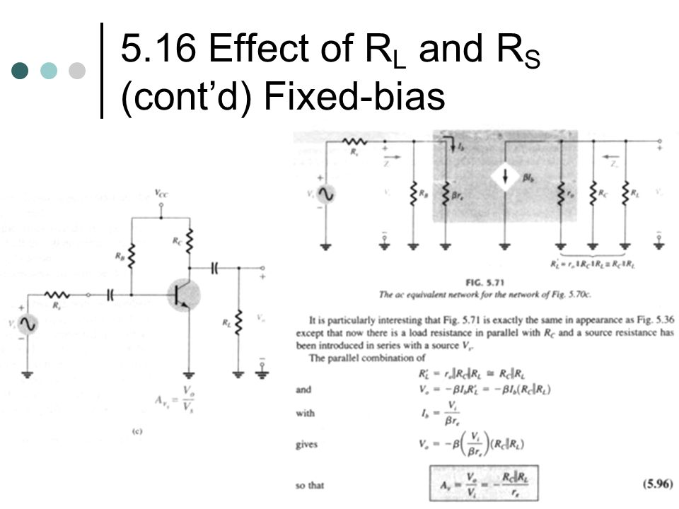 5.16 Effect of RL and RS (cont'd) Fixed-bias