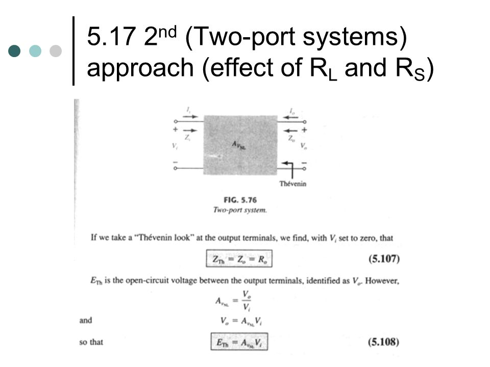 5.17 2nd (Two-port systems) approach (effect of RL and RS)