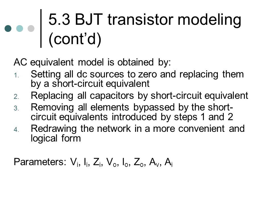 5.3 BJT transistor modeling (cont'd)