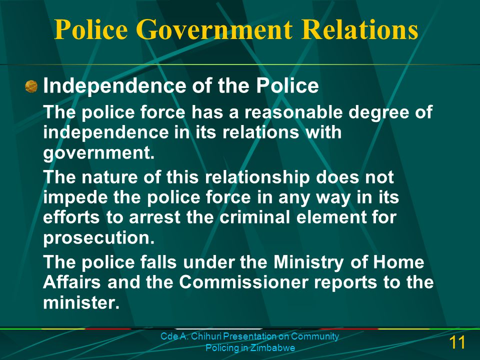 Police Government Relations