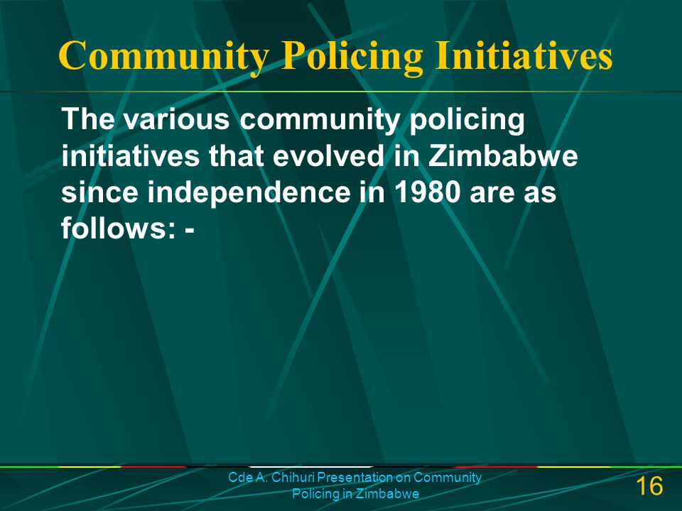 Community Policing Initiatives