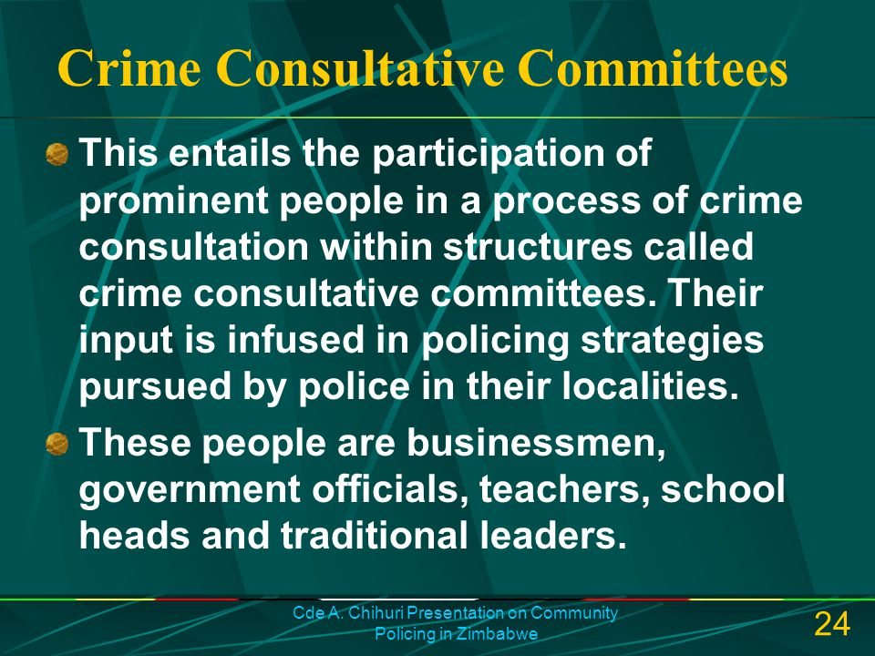 Crime Consultative Committees