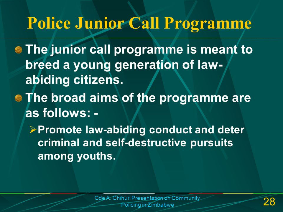 Police Junior Call Programme