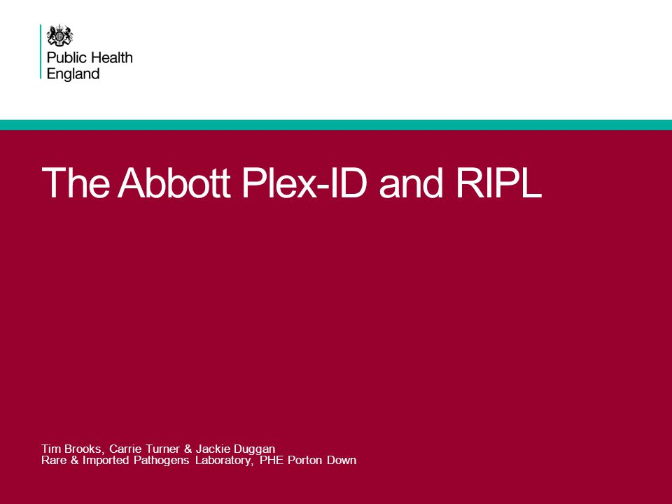 The Abbott Plex-ID and RIPL