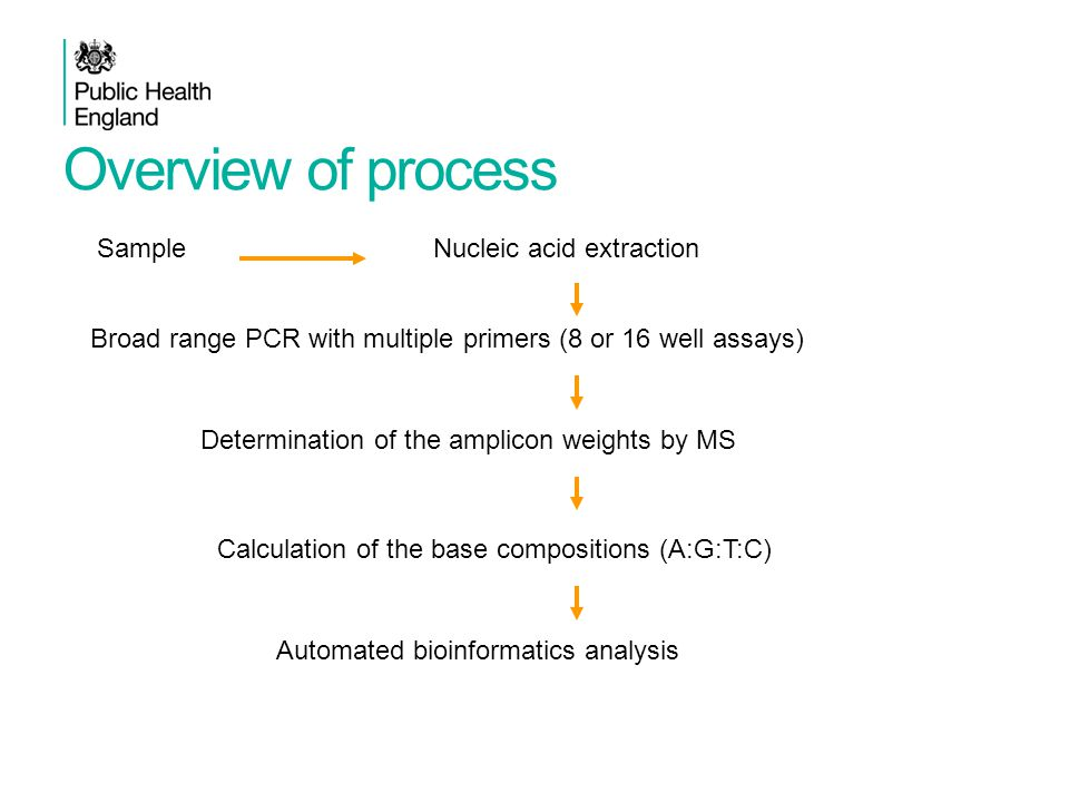 Overview of process Sample Nucleic acid extraction