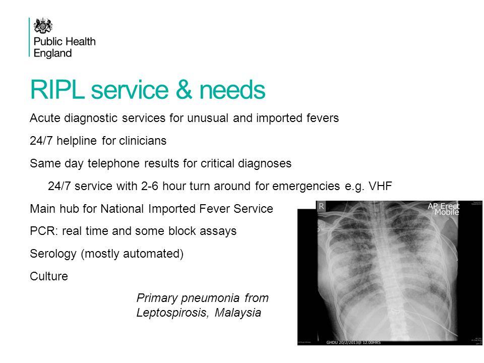 RIPL service & needs