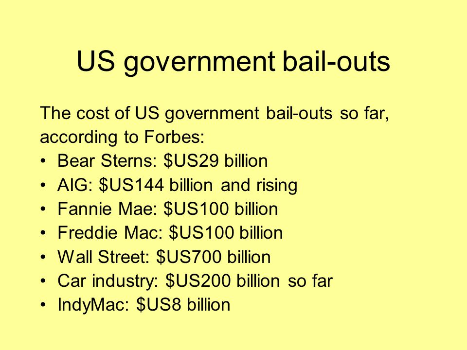 US government bail-outs