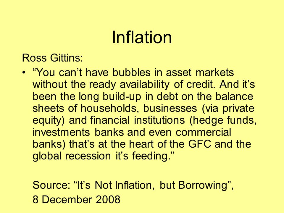 Inflation Ross Gittins: