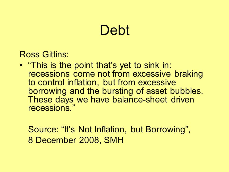 Debt Ross Gittins: