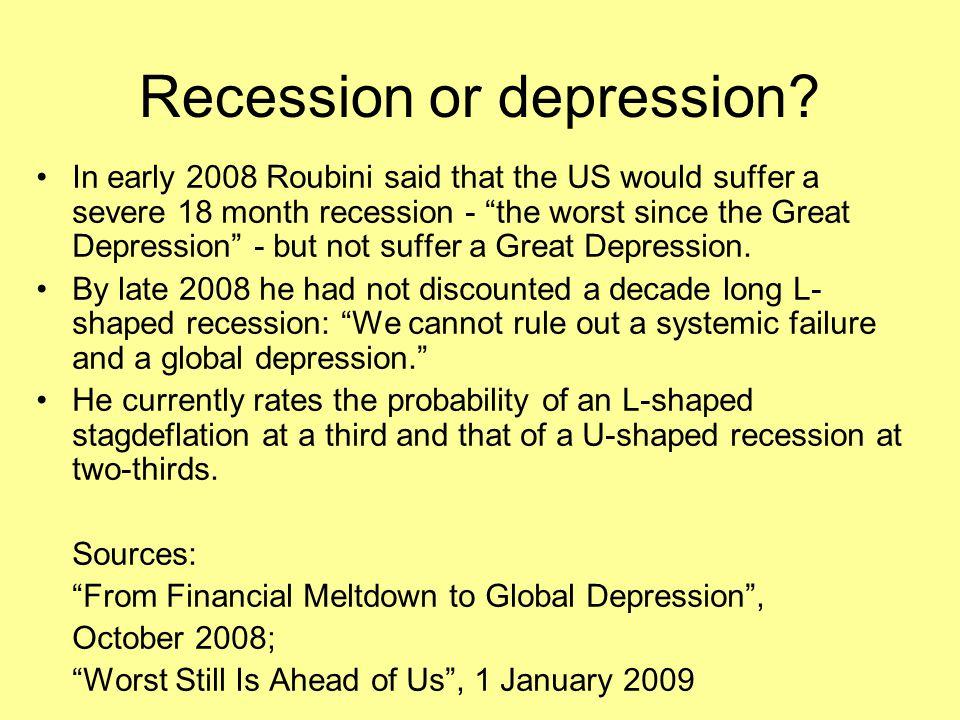 Recession or depression