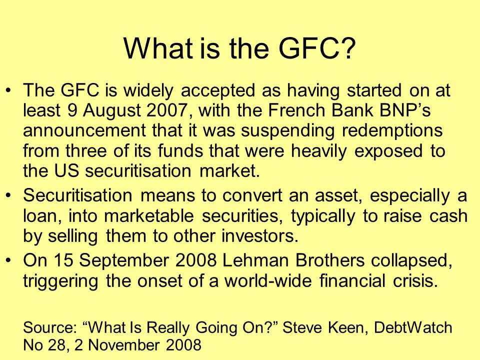 What is the GFC