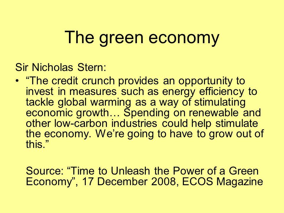 The green economy Sir Nicholas Stern: