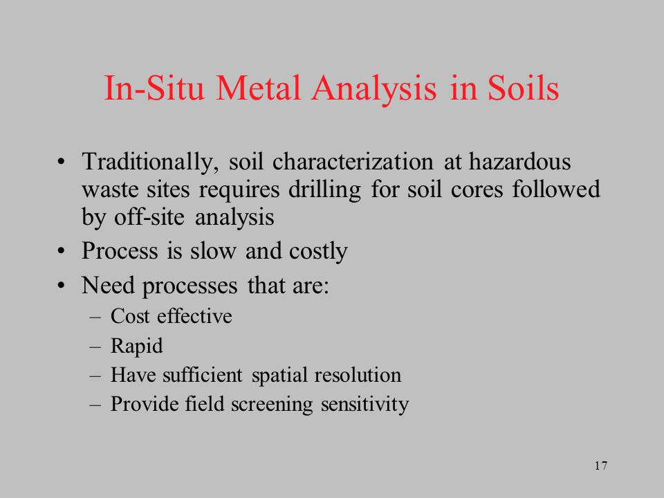 In-Situ Metal Analysis in Soils