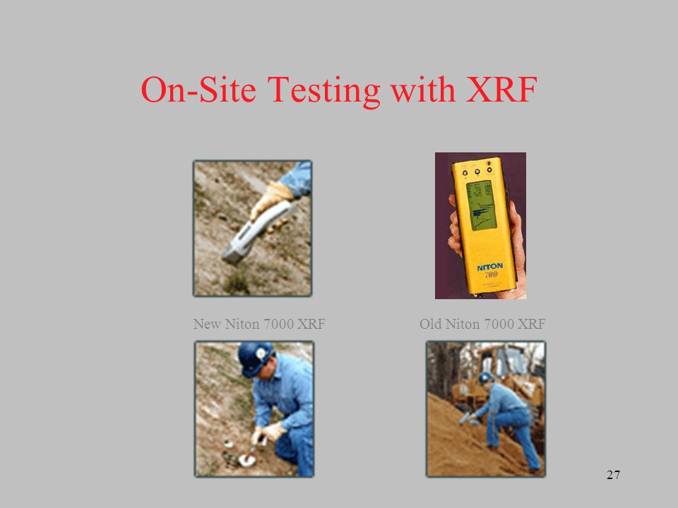 On-Site Testing with XRF