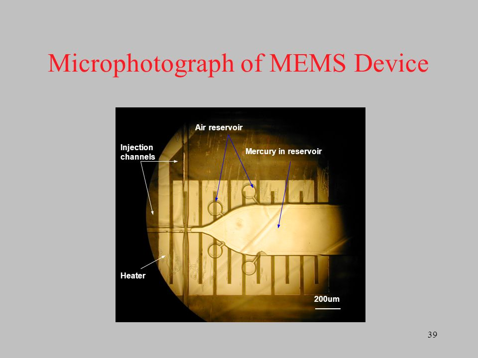 Microphotograph of MEMS Device