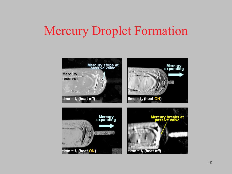 Mercury Droplet Formation