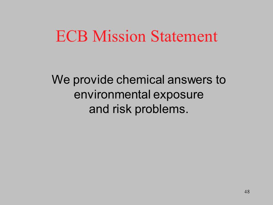 We provide chemical answers to environmental exposure