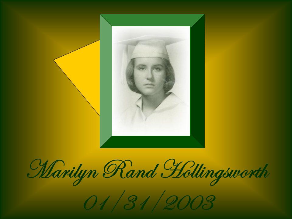 Marilyn Rand Hollingsworth 01/31/2003