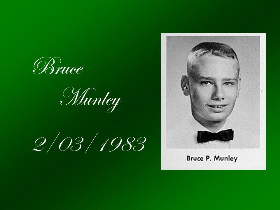Bruce Munley 2/03/1983