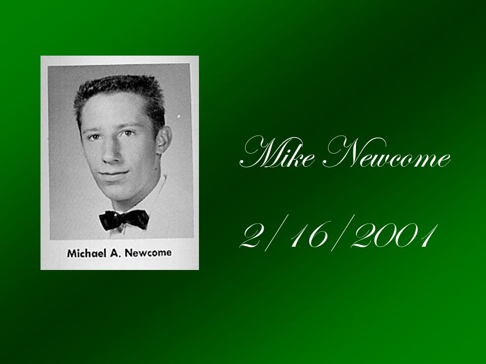 Mike Newcome 2/16/2001