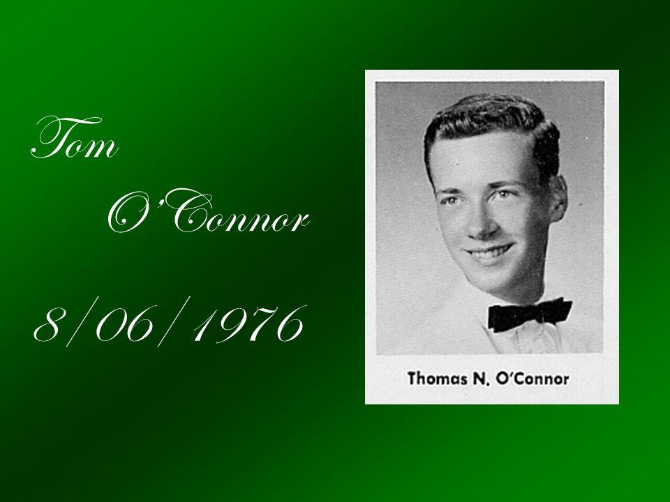 Tom O'Connor 8/06/1976