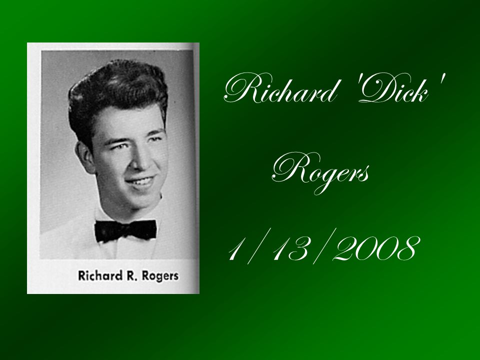 Richard Dick Rogers 1/13/2008