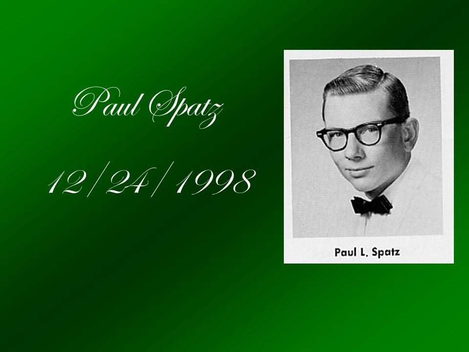Paul Spatz 12/24/1998