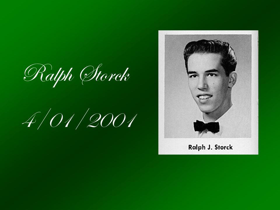 Ralph Storck 4/01/2001