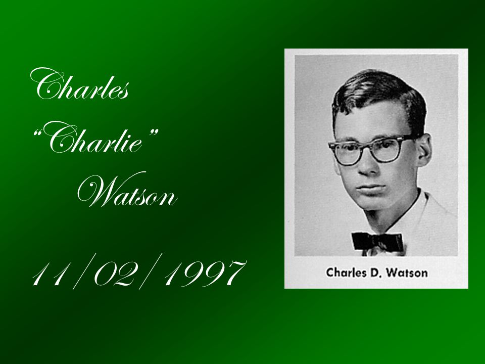 Charles Charlie Watson