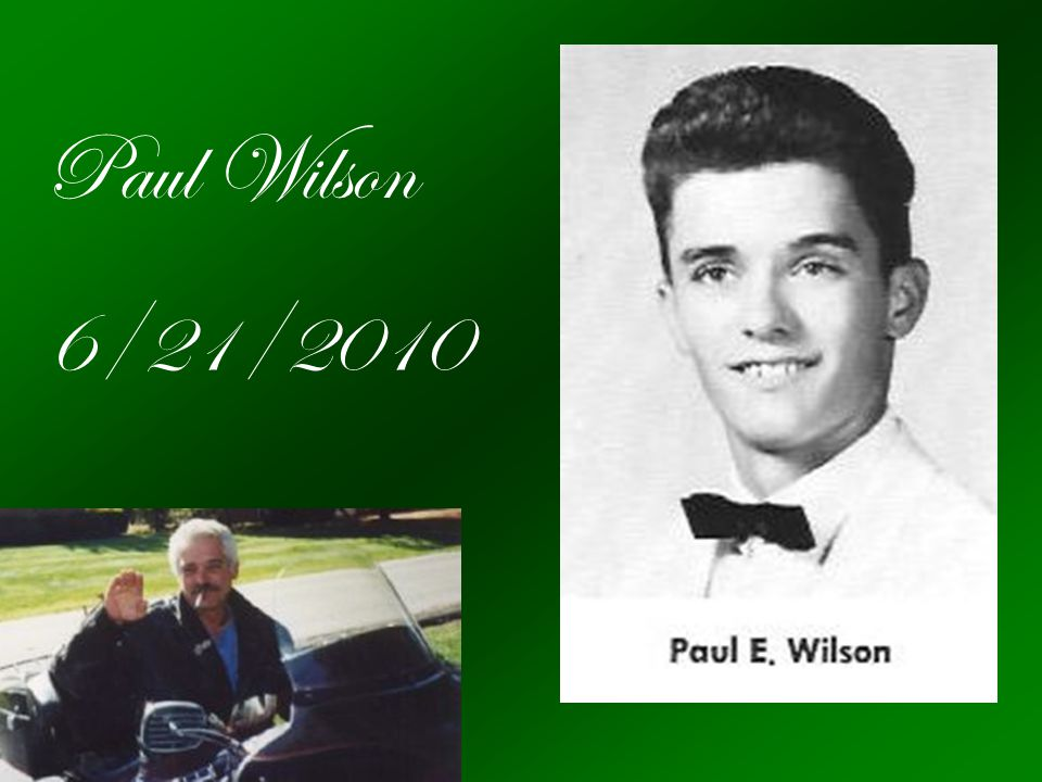 Paul Wilson 6/21/2010