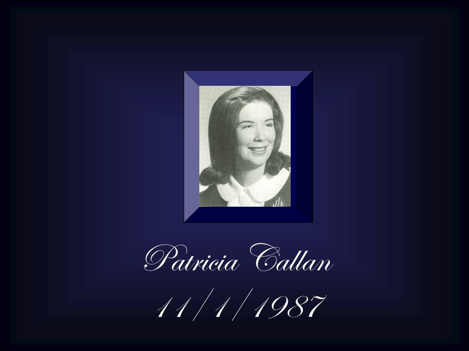 Patricia Callan 11/1/1987