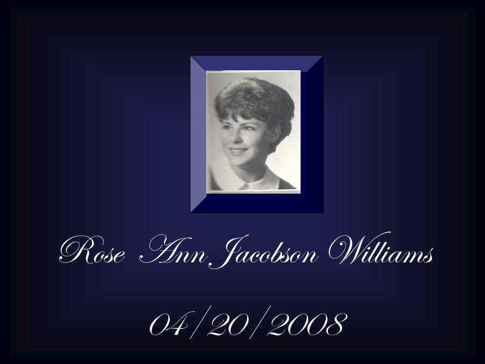 Rose Ann Jacobson Williams
