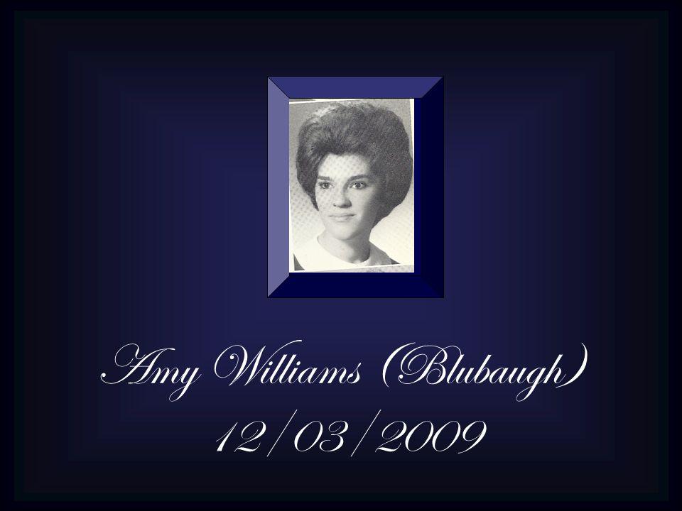 Amy Williams (Blubaugh) 12/03/2009
