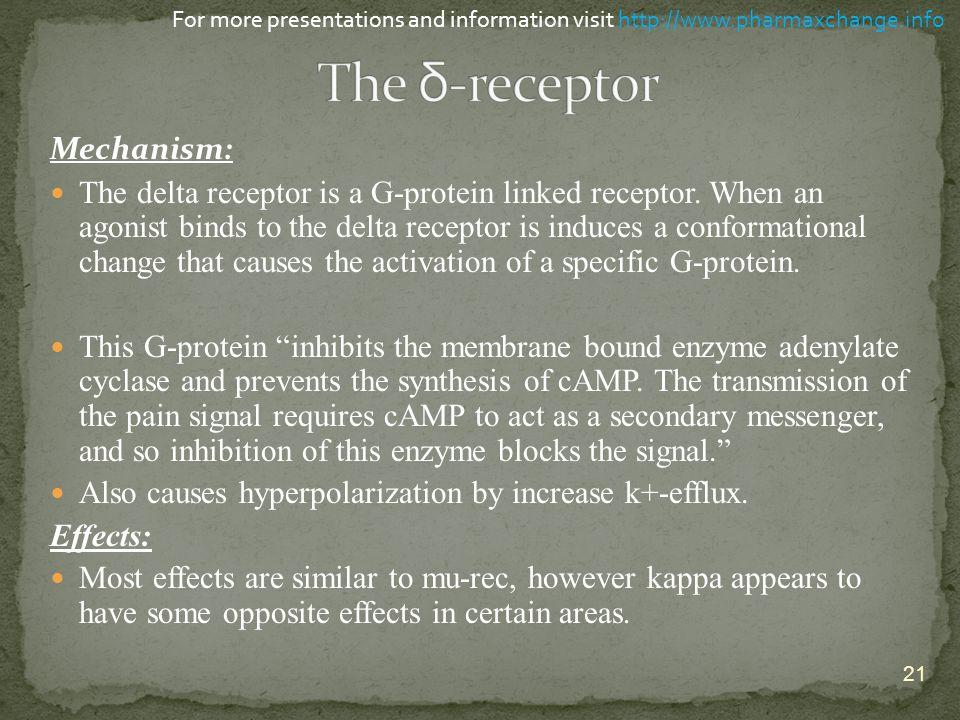 The δ-receptor Mechanism: