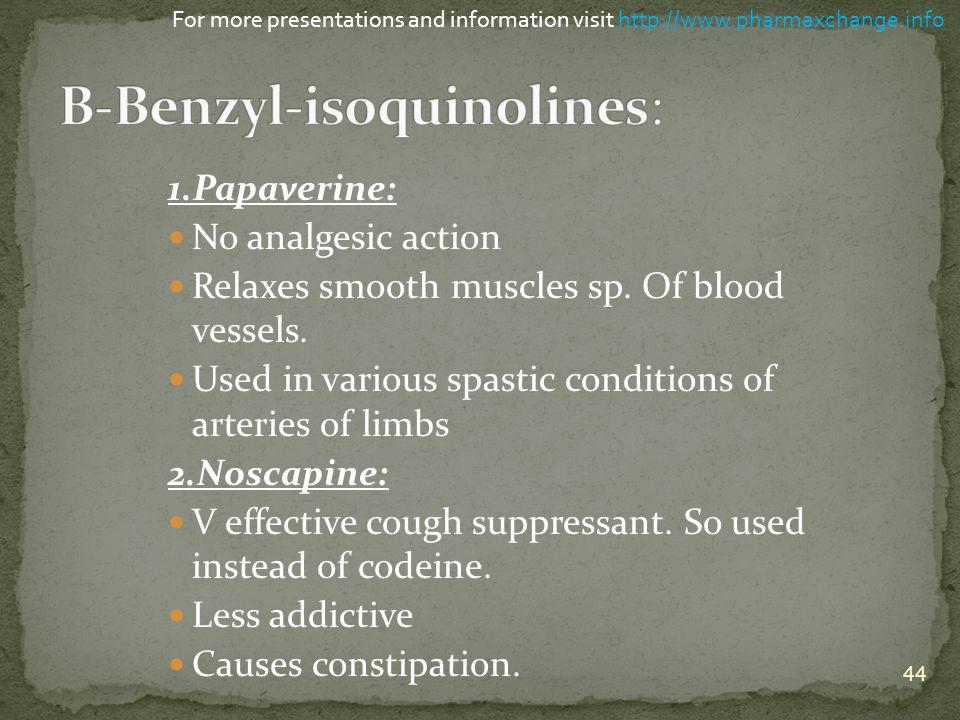 B-Benzyl-isoquinolines: