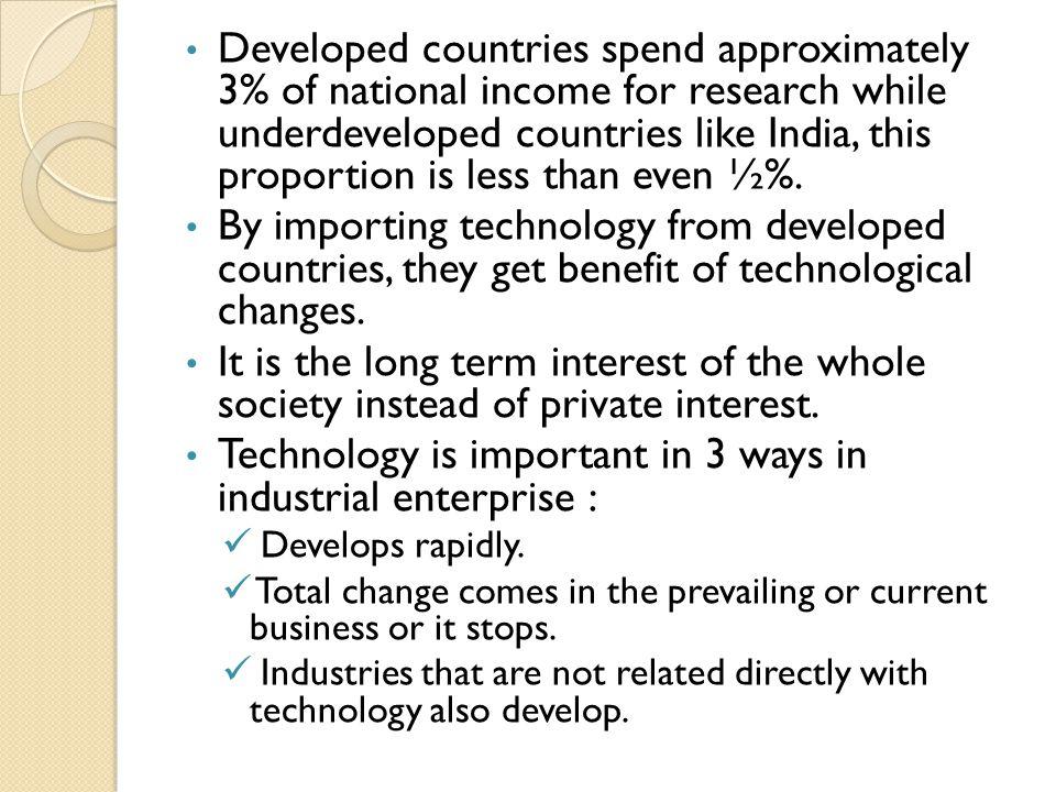 Technology is important in 3 ways in industrial enterprise :