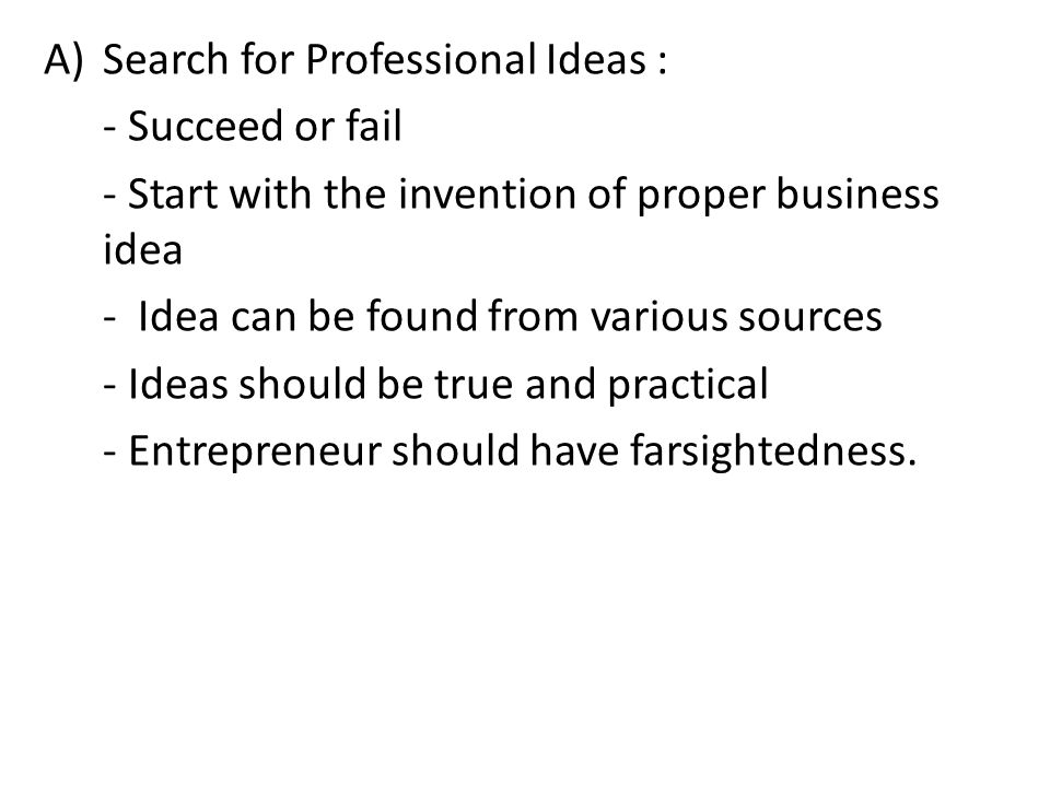 Search for Professional Ideas :