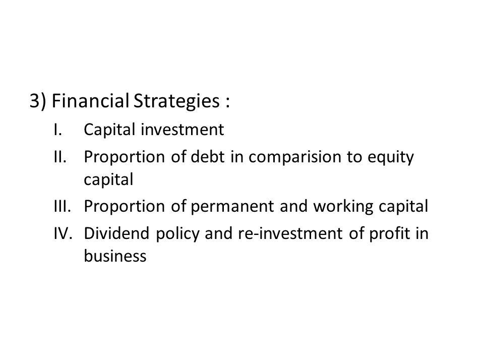 3) Financial Strategies :